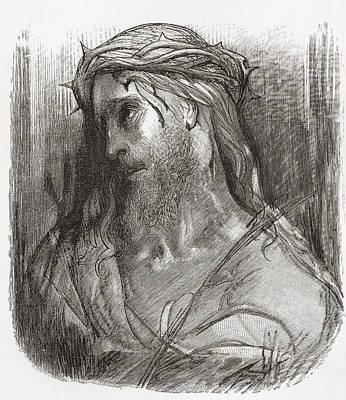 Head Of Christ, After The Original Art Print