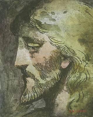 Head Of Christ Art Print by Robert McIntosh