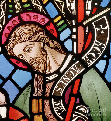 Agnus Glass Art - Head Of John The Baptist by John Richard Clayton