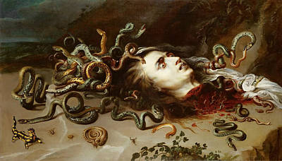 Painting - Head Of Medusa by Frans Snyders