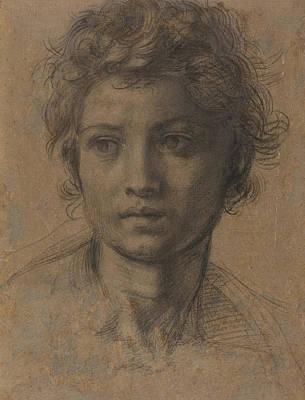 Head Of Saint John The Baptist Art Print