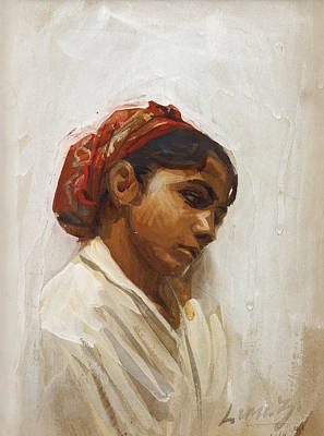 Drawing - Head Of Spanish Girl, Sevilla by Anders Zorn