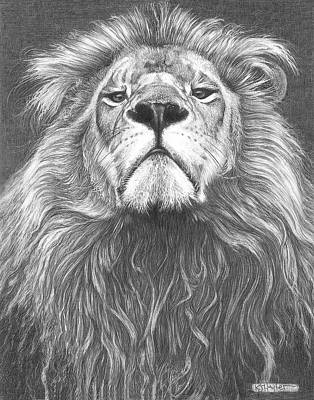 Head Shot Drawing - Head Of The Family by Kevin Hayler