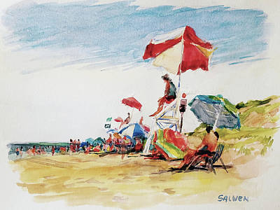 Painting - Head  Of The Meadow Beach, Afternoon by Peter Salwen