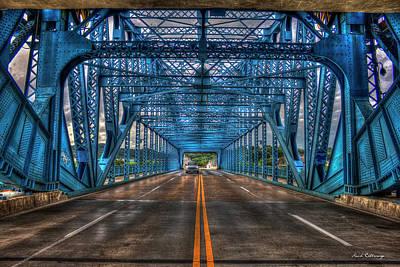 Photograph - Head On The Market Street Bridge Or Chief John Ross Bridge Art by Reid Callaway