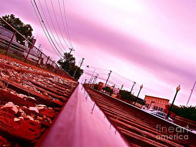 Head On The Tracks Art Print by Chuck Taylor