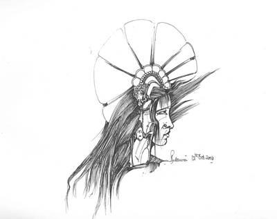 Head Art Print by Padamvir Singh