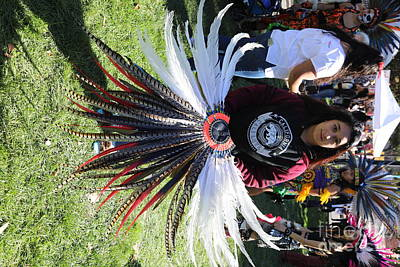 Dia De Los Muertos Photograph - Head Piece Dancer Day Of The Dead  by Chuck Kuhn