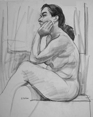 Drawing - Head Rest by Robert Holden