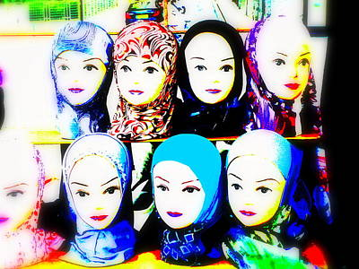 Funkpix Digital Art - Head Scarfs For Sale In Lyon by Funkpix Photo Hunter