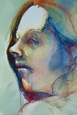 Painting - Head Study 7 by Barbara Pease