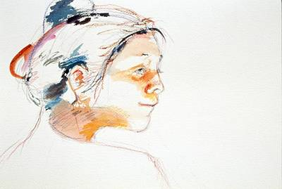 Painting - Head Study 9 by Barbara Pease