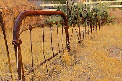 Headboard Fence Art Print by Angie Wingerd