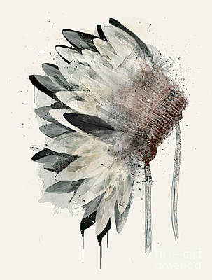 Print featuring the painting Headdress by Bri B