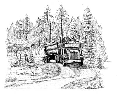 Drawing - Headed Out Loaded by Timothy Livingston