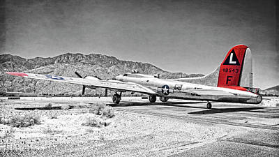 Photograph - B-17 Madras Maiden Heading Out by Sandra Selle Rodriguez