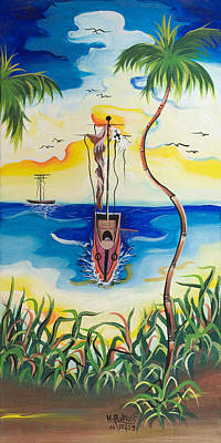 Handicapped Painting - Headed To Shore by Herold Alvares