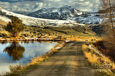 Photograph - Headed To The Yellowstone Forever Overlook Campus by Adam Jewell