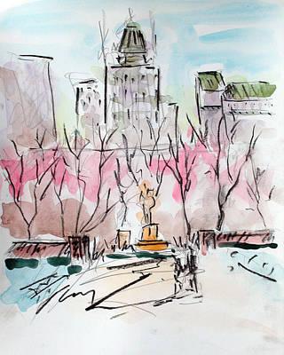 Heading Back To The Plaza Original by Chris Coyne