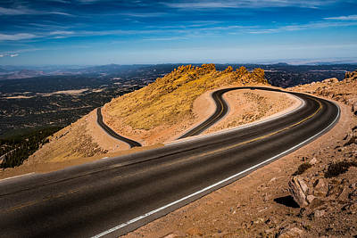 Photograph - Heading Downhill At Pike's Peak by Ron Pate