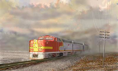 Digital Art - Heading East by Kerry Beverly