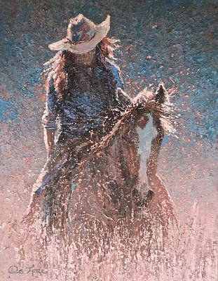Painting - Heading For Oats And A Long Soak by Mia DeLode