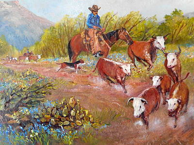 Lynn Burton Wall Art - Painting - Heading Home  by Lynn Burton
