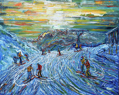Painting - Heading Home - Sunset 4 Vallees by Pete Caswell