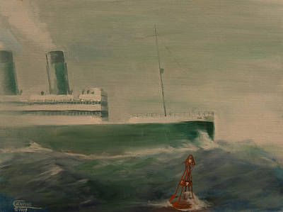 Ocean Liner Painting - Heading In by Christopher Jenkins