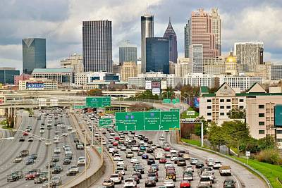 Photograph - Heading Into Atlanta by Frozen in Time Fine Art Photography