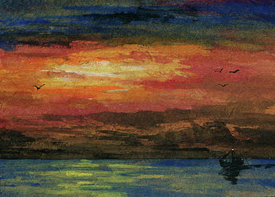 Trolling Painting - Heading Out To Sea by R Kyllo
