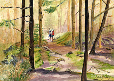 Painting - Cathedral Wood by Melly Terpening