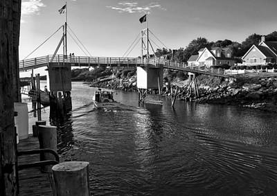 Photograph - Heading To Sea - Perkins Cove - Maine by Steven Ralser