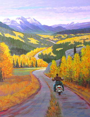 Wall Art - Painting - Heading Up Country by Chris MacClure