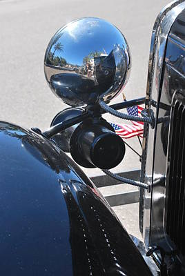 Photograph - Headlamp And Flags by Heather Kirk