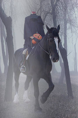 Legend Photograph - Headless Horseman by Christine Till