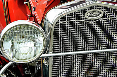 Photograph - Headlight And Grille by David Lawson