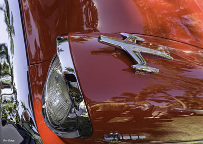 Photograph - Headlight Oldsmobile Super 88 by Fran Gallogly