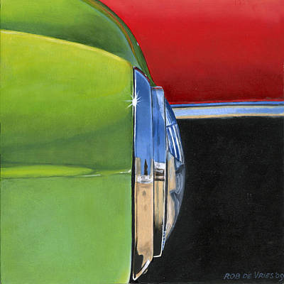 Painting - Headlight by Rob De Vries