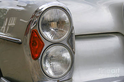 Domestic Cars Photograph - Headlights Of Vintage Car by Patricia Hofmeester