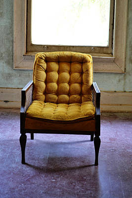 Photograph - Headmaster Chair by Holly Blunkall