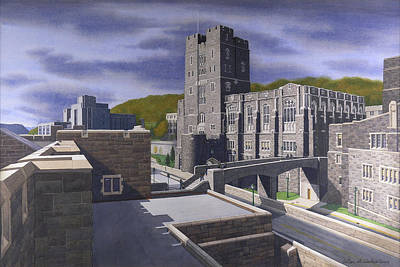 Upstate Painting - Headquarters Tower West Point by Glen Heberling