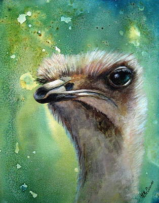 Painting - Heads Up-ostrich by Mary McCullah