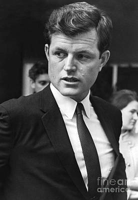 Ted Kennedy Photograph - Headshot Of The Long Standing Senator From Massachusetts, Ted Kennedy. 1967 by Terence McCarten