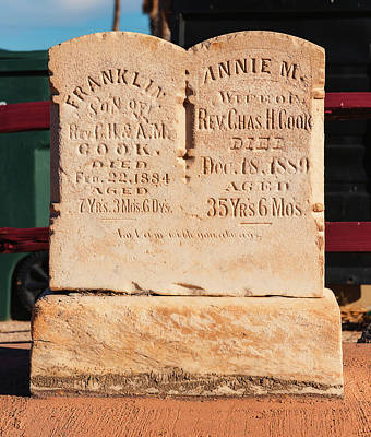 Photograph - Headstone by Edward Peterson