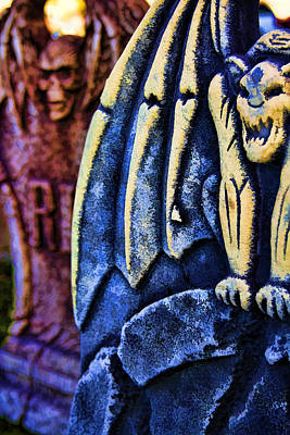 Photograph - Headstones by Ricky Barnard