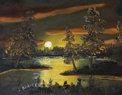 Painting - Headwaters Sunset 160115 by Jack G Brauer