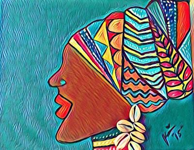 Woman Painting - Headwrap by K Daniel