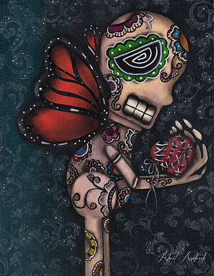 Gothic Art Painting - Healing by  Abril Andrade Griffith