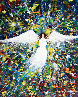 Painting - Healing Angel 1 by Kume Bryant